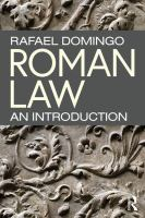 Roman law : an introduction için kapak resmi