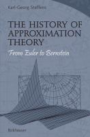 The History of Approximation Theory From Euler to Bernstein için kapak resmi