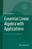 Essential Linear Algebra with Applications A Problem-Solving Approach için kapak resmi