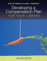 Developing a compensation plan for your library için kapak resmi