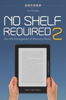 No shelf required 2 use and management of electronic books için kapak resmi