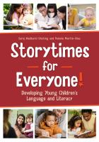 Storytimes for everyone!:  developing young children's language and literacy için kapak resmi