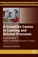 A complete course in canning and related processes. Volume 1, Fundamental information on canning için kapak resmi