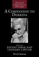 A companion to Derrida için kapak resmi