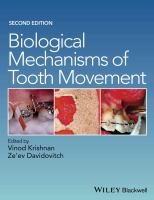 Biological mechanisms of tooth movement için kapak resmi