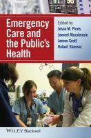 Emergency care and the public's health için kapak resmi