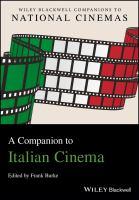 A companion to Italian cinema için kapak resmi