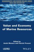 Value and economy of marine resources için kapak resmi