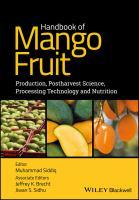 Handbook of mango fruit : production, postharvest science, processing technology and nutrition için kapak resmi