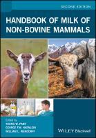 Handbook of milk of non-bovine mammals için kapak resmi