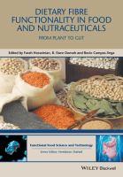 Dietary fibre functionality in food & nutraceuticals : from plant to gut için kapak resmi