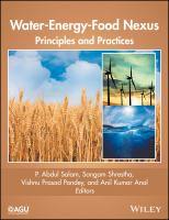 Water-energy-food Nexus principles and practices için kapak resmi
