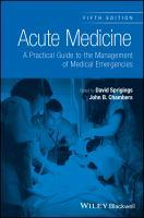 Acute medicine : a practical guide to the management of medical emergencies için kapak resmi
