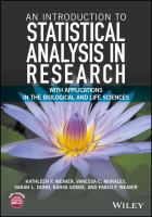 An introduction to statistical analysis in research : with applications in the biological and life sciences için kapak resmi