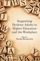 Supporting dyslexic adults in higher education and the workplace için kapak resmi