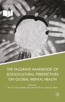 The Palgrave Handbook of Sociocultural Perspectives on Global Mental Health için kapak resmi