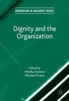 Dignity and the Organization için kapak resmi