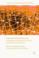 International Bureaucracy Challenges and Lessons for Public Administration Research için kapak resmi