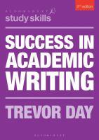 Success in academic writing için kapak resmi