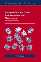 Environmental and Health Risk Assessment and Management Principles and Practices için kapak resmi