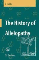 The History of Allelopathy için kapak resmi