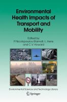 Environmental Health Impacts of Transport and Mobility için kapak resmi