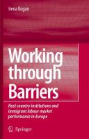 Working Through Barriers Host Country Institutions and Immigrant Labour Market Performance in Europe için kapak resmi