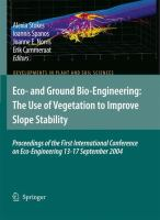 Eco-and Ground Bio-Engineering: The Use of Vegetation to Improve Slope Stability Proceedings of the First International Conference on Eco-Engineering 13–17 September 2004 için kapak resmi