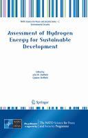 Assessment of Hydrogen Energy for Sustainable Development için kapak resmi