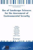 Use of Landscape Sciences for the Assessment of Environmental Security için kapak resmi