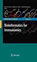 Bioinformatics for Immunomics için kapak resmi
