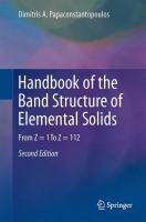 Handbook of the Band Structure of Elemental Solids From Z = 1 To Z = 112 için kapak resmi