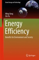 Energy Efficiency Benefits for Environment and Society için kapak resmi