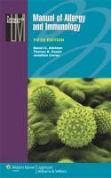 Manual of allergy and immunology için kapak resmi