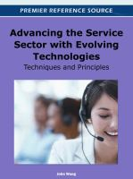 Advancing the service sector with evolving technologies techniques and principles için kapak resmi