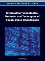 Information technologies, methods, and techniques of supply chain management için kapak resmi