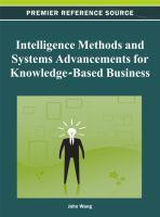 Intelligence methods and systems advancements for knowledge-based business için kapak resmi