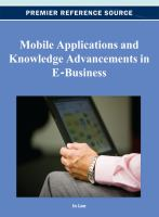 Mobile applications and knowledge advancements in e-business için kapak resmi