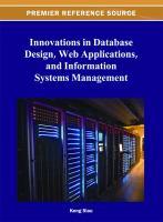 Innovations in database design, web applications, and information systems management için kapak resmi