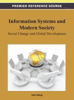 Information systems and modern society social change and global development için kapak resmi