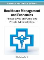 Healthcare management and economics perspectives on public and private administration için kapak resmi