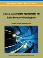 Ethical data mining applications for socio-economic development için kapak resmi
