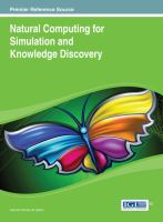 Natural computing for simulation and knowledge discovery için kapak resmi