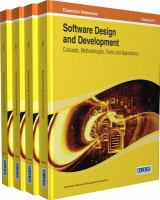 Software design and development concepts, methodologies, tools, and applications için kapak resmi
