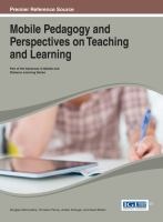 Mobile pedagogy and perspectives on teaching and learning için kapak resmi