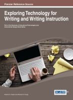 Exploring technology for writing and writing instruction için kapak resmi