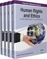 Human rights and ethics : concepts, methodologies, tools, and applications için kapak resmi