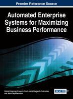 Automated enterprise systems for maximizing business performance için kapak resmi