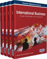 International business : concepts, methodologies, tools, and applications için kapak resmi