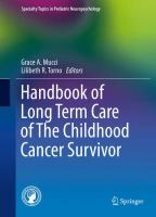 Handbook of Long Term Care of The Childhood Cancer Survivor için kapak resmi